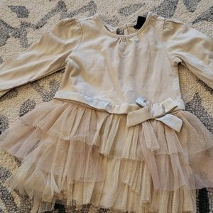 Old Navy Dresses - Old Navy gold ling sleeve dress